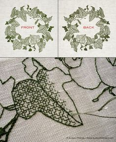 Blackwork embroidery - a step by step guide (VIDEO TUTORIAL): http://www.ajisaipress.com/blog/blackwork-embroidery-a-step-by-step-guide/ This video tutorial will show you the basics of blackwork embroidery: how to start and end stitching without knots, the Holbein stitch (also known as double running stitch), how to work the outlines and the fill-in patterns, and finally, how to create beautiful shading effects.