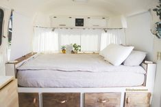 Excellent Airstream Interior Design Ideas To Copy Asap - The Ford Airstream concept was designed under several influences, including spacecraft and aircraft for windows, and for body work. The unique reflect. Airstream Rv, Airstream Remodel, Airstream Renovation, Airstream Interior, Campervan Interior, Vintage Airstream, Trailer Remodel, Airstream Living, Vintage Campers