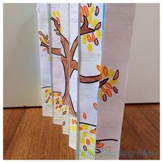 I love an activity that only requires basic materials like A4 paper, pencils, rulers, scissors and glue. These concertina pictures are a perfect example of