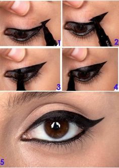 Step by step to the eyeliner! MAKE UP – Access: pitacoseachados. Step by step to the eyeliner! MAKE UP – Access: pitacoseachados. Eyeliner Make-up, How To Apply Eyeliner, Black Eyeliner, Purple Eyeliner, Makeup 101, Beauty Makeup, Hair Makeup, Makeup Ideas, Makeup Products