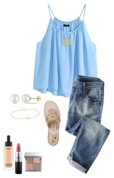 """""""Untitled #71"""" by ablrichh on Polyvore featuring H&M, Wrap, Jack Rogers, MAC Cosmetics, Bobbi Brown Cosmetics, Jennifer Meyer Jewelry and Miadora"""