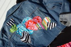 Items similar to DAZZLED Pageant Valentines Embellished denim jacket Size - 8 ODOD on Etsy Denim Jacket Patches, Have Time, Pageant, Sewing Projects, Valentines, Trending Outfits, Diy, Jackets, Fashion