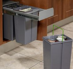 Kitchen Waste Recycling Bin Built In 300mm Minimum Cabinet Soft Close 30  Litres