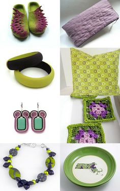 Green and Purple Gifts! by Lina Vragova on Etsy--Pinned with TreasuryPin.com