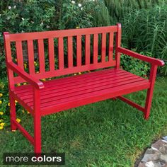 International Caravan Acacia Wood 49-inch Bench - Overstock Shopping - Great Deals on International Caravan Outdoor Benches