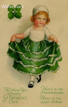 St Patrick's Day Postcard. Beautiful vintage St by SeverinesAttic, £1.00