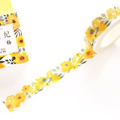 Bright floral washi tape is always a must item for me! Come and get one when it is available!
