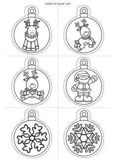 #decora tu clase Divertidas Bolas de navidad para imprimir y colorear -Orientacion Andujar
