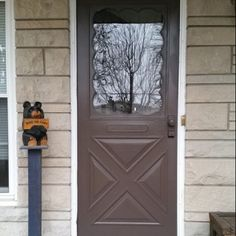 Attrayant Painted Storm Door After