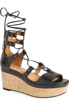 COACH 'Barkley' Wedge Sandal (Women) available at #Nordstrom