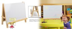 Childrens Easel With Write-on White Board For Tabletop Use,pine Wood - Natural…