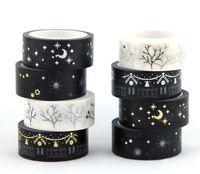 Горячая продажа! золотой блокирование глод и серебро клей японский васи маскирующие ленты 10 рулонов/много