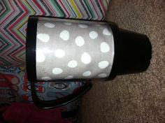 Use old fabric in a photo travel mug to match your Thirty-One bags