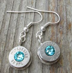 Bullet Dangle Earrings Light Turquoise by Sarahsjewelrydesigns, $25.00