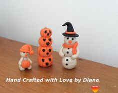 3 Siamese Cat Family Figurine Hand Crafted by SmallStuffbyDiane