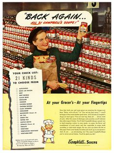 All 21 Campbell's Soups are back again! 1940s
