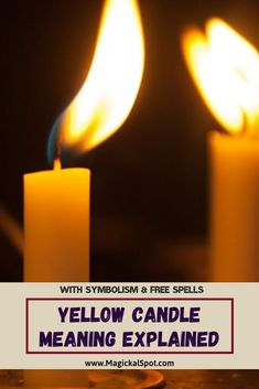 Here's everything you need to know about the Yellow Candle Meaning and Symbolism. I've also included a few spells and rituals with yellow candles. Candle Magic, Candle Spells, Wiccan Spells, Magic Spells, Candle Meaning, Lit Meaning, Magic Spell Book, Spell Books, Yellow Candles