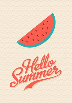 Watermelon - Retro Poster