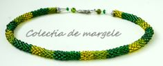 Secret garden - corchet beading necklace www.colectiademargele.ro Beading, Beaded Bracelets, Crochet, Garden, Collection, Jewelry, O Beads, Jewellery Making, Garten