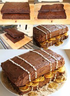 Sorprende este fin de semana en casa con esta divertida tarta del tesoro que es perfecta para una fiesta con niños o un cumpleaños. Es muy fácil de prepara Pirate Party Decorations, Comida Diy, Pirate Birthday, Amazing Cakes, Baked Goods, Cupcake Cakes, Cake Decorating, Birthdays, Baking