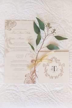 Gold Flourish Wedding Stationery by http://www.lovebyphoebe.com/ | photography by http://melissagidneyphoto.com