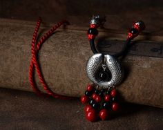 High quality Double Fish pendant tribal necklace triditional chinese style