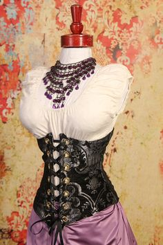 All Sizes Black & Silver Medallion Wench by damselinthisdress