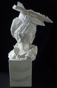 white - woman - re-interpretation of the historical portrait bust - plaster busts - sculpture - Kathy Dalwood Architectural Sculpture, Fun At Work, Figurative Art, Art Forms, New Art, Sculpture Art, Art Pieces, Statue, Portrait