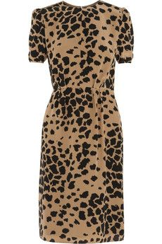 Animal-print silk dress by Burberry London