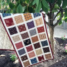 Civil War Raggy Patches Table Runner by thePATchworksshop on Etsy