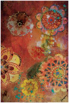 pretty looks like batik Altered Canvas, Altered Art, Surrealism Painting, Paper Artwork, Heart Art, Art Blog, Framed Art Prints, Flower Art, John Douglas