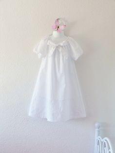 Girl white nightgown retro vintage romantic by LittlePoupettes