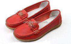 Casual Women's Leahter Shoes with Genuine Leather Upper and Tpr Outsole - Hong Kong casual women's leather shoes