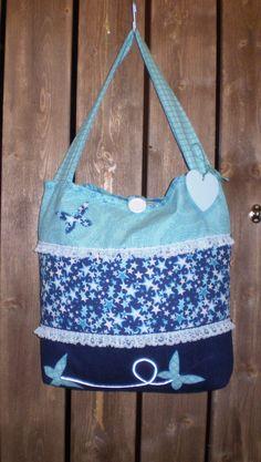 Skulderveske Handmade Dresses, Diaper Bag, Sewing, Bags, Fashion, Handbags, Moda, Dressmaking, Couture