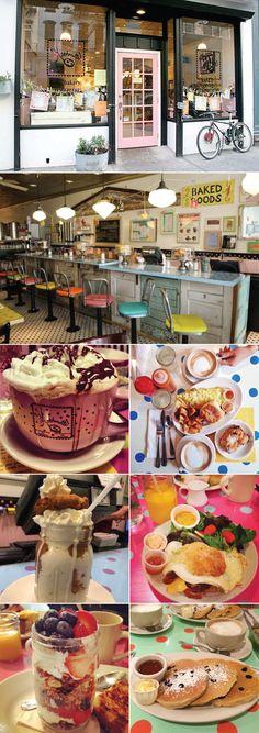 kitchenette-restaurante-ny-new-york-dica-tips-diner-fofo-travel-vintage-retro-brunch  Kitchenette$$   156 Chambers St. entre a Hudson St & Greenwich St em TriBeCa (Também tem em Uptown, na 1272 Amsterdam Ave com a 123rd St.).
