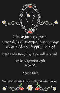 Mary Poppins Invitation - Design Dazzle