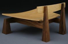 Sam Maloof Inspired Contempory Walnut Bar Stool Built By