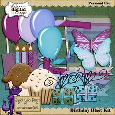Birthday Blast Kit by Digital Gator Designs