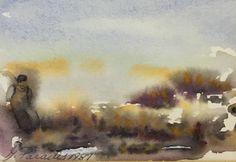 #295, aquarelle, 1987, 5,5'' x 4'', 30$ Paradis, Watercolor Landscape, Journey, Painting, Art, Watercolor Paintings, Art Background, Painting Art, The Journey