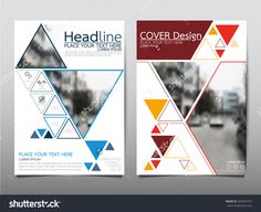 Annual Report Brochure Flyer Design Template Vector, Leaflet Cover Presentation Abstract Triangle Background, Layout In A4 Size - 393404707 : Shutterstock