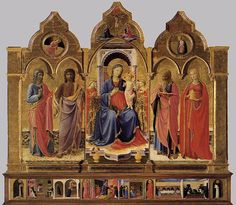 The Cortona Triptych by Fra Angelico, which is in the Diocesan Museum, Cortona, Tuscany, Italy