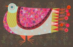NANCY NICHOLSON: Pigeon Poster