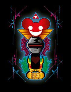 Fan Art: Totem Deadmau5 and daft punk on Behance http://www.behance.net/gallery/Fan-Art-Totem-Deadmau5-and-daft-punk/3776350