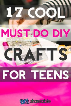 Need Some Cool DIY Crafts for Teens? Must-Do Projects) Need some easy and fun DIY projects for teens? Here are some ideas for both girls and boys, whether it's for their rooms or just to sell for some spending money. Diy Crafts For Teen Girls, Arts And Crafts For Teens, Art And Craft Videos, Easy Arts And Crafts, Easy Diy Crafts, Diy Crafts To Sell, Fun Diy, Popular Crafts, Craft For Tweens