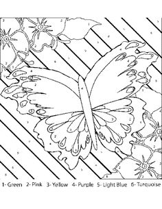 For Adults Free Free Printable Color By Number Coloring Pages