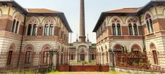 """Crespi d'Adda Factory Entrance, birth of modern industry in IT, Lombardy.  """"Company town"""" site preserved. UNESCO"""