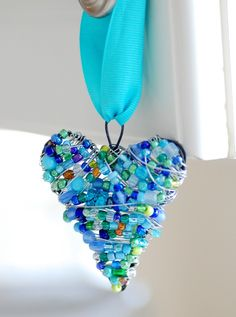 heart - this would rock as ornament gifts for next year, make smaller for pendants