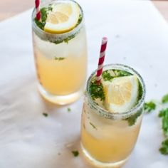 Cilantro Tequila Lemonade