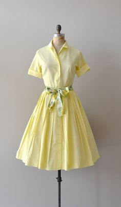 1950s dress / vintage 50s shirtdress / A Day in May by DearGolden, $108.00