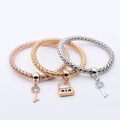 Franterd 3Pcs Women Charm Pendant Bracelet Fashion Multilayer Bangle Jewelry Gift -- More info could be found at the image url. (This is an affiliate link) #JewelryLover
